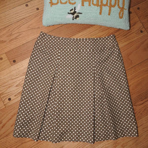 Talbots Brown Gold Skirt Sz 12